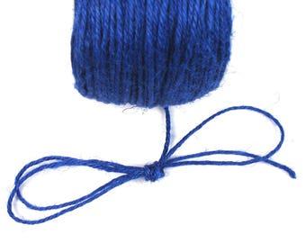 Dark, 2 mm blue hemp cord
