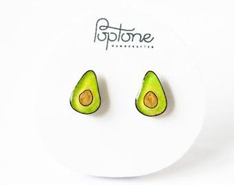 Avocado Earrings, avocado studs, food earrings, haas avocados, avocado jewelry, guacamole