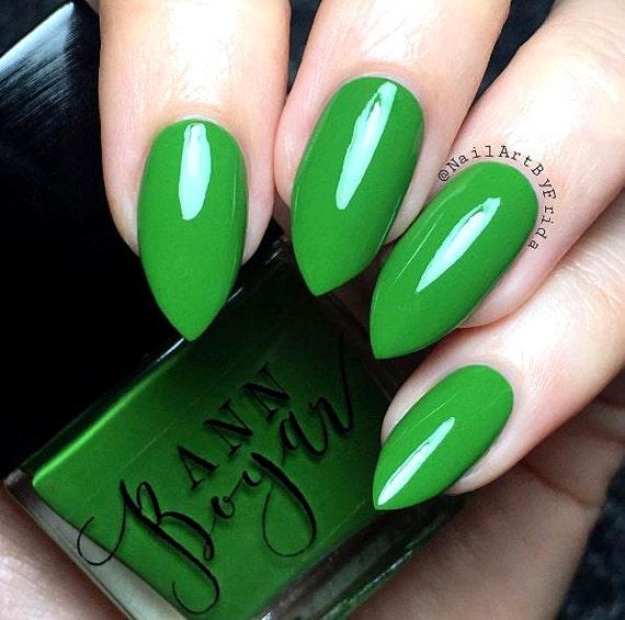 How To Make Olive Green Nail Polish: BONSAI Olive Green Creme Nail Polish Dark Green Vegan Nail
