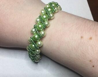 Gorgeous Green Beaded Bracelet
