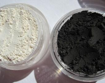Matte Eyeshadow Set | Basic Matte Black Eyeliner | Loose Powders | Mineral Eye Shadow & Matte White | Matte Vegan Eye Shadow Gift Set