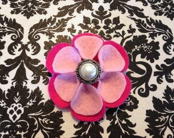 Two-tone Pink Felt Flower