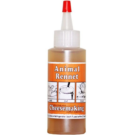 Artisan DIY Cheese Making Liquid Animal Rennet 2 Fluid Ounces For Home Cheese Making