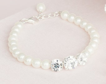 Bridal bracelet / wedding bracelet / bridesmaids bracelet / pearl bracelet / crystal bracelet / diamante bracelet / bridesmaids gift / CICI