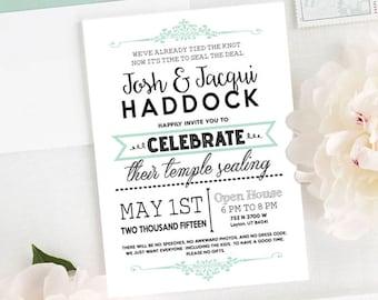 Subway Art Banner Wedding Invitation