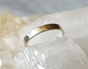 Faceted sterling silver unisex ring, size 8.75