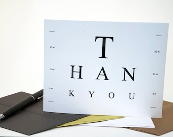 Eye Doctor Thank You Card - Surgery - Eye Test - Glasses - Optometrist - Optometry  - National Doctors Day - Medical Theme - Eye Doctor