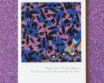 WRINKLE IN TIME just give yourself time, meg.  a wrinkle in time greeting card for the ages. faerie tale feet madeleine l'engle