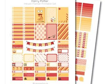 Inkwell Planner Harry Potter Printable Sticker Set, Erin Condren Life Planner, Instant Download