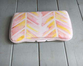 Chevron Watercolor, Wipe Case, Wipes Case, Baby Wipe Case, Baby Wipes Case, Travel Wipe Case, Wipes Holder, Diaper Bag, Baby Gift,Babyshower