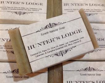 Hunter's Lodge Natural Homemade Soap, Handmade soap, Natural Soap, Cold Process Lye Soap