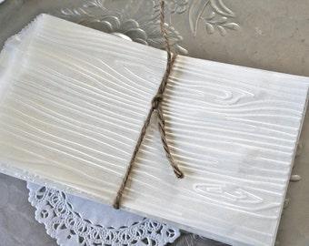 25 Glassine or Kraft Favor Bags, Rustic Woodgrain