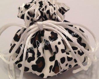 Animal Print Large Jewelry Bag