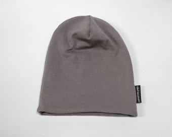 NEW! Slate Grey Bamboo Slouchy Beanie Hat