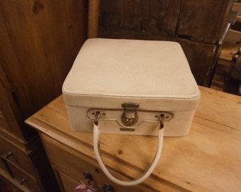 Cream Vanity Case By Antler, Vintage.