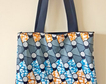 African Wax Fabric Tote bag