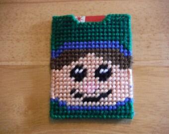 Plastic Canvas Gift Card Holder Elf, needlepoint item, Christmas gift, holiday gift card, money holders, Christmas gift card, employee gift