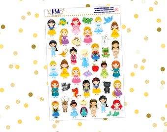 Disney Princess Stickers  {198}