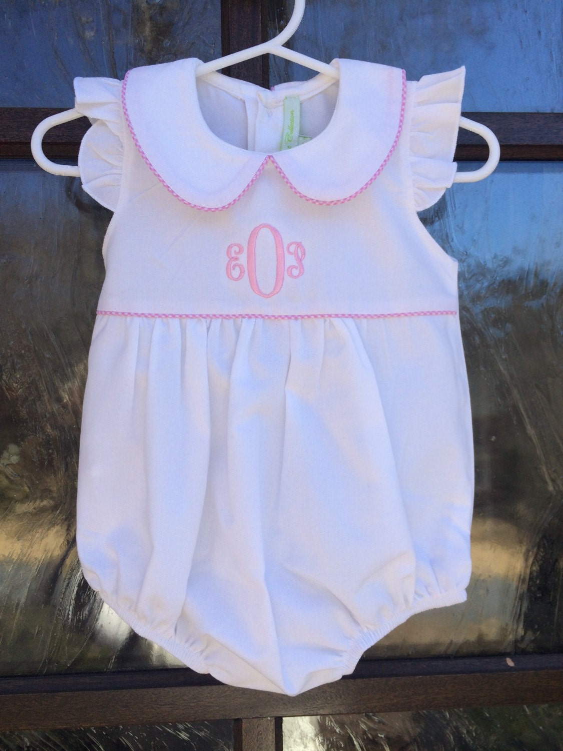 Monogrammed Girls Baby Bubble / Personalized Easter or