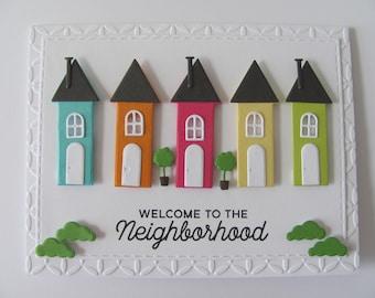 Welcome to the Neighborhood Card, New Home Card, Congratulations Card, Housewarming Card, New House, Congratulation, Moving Card, House Card