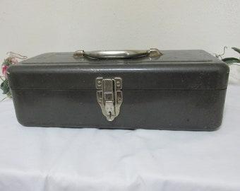 Metal Tackle Box Vintage Rustic Fishing Gear
