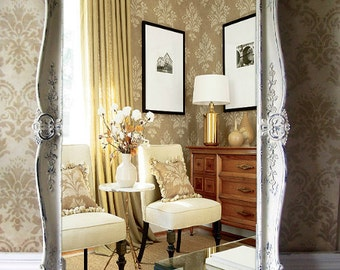 L A R G E ...Ornate French Mirror, Baroque, Mantel Mirror