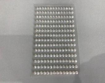 Plate 196 rhinestones 5mm Pearl stickers