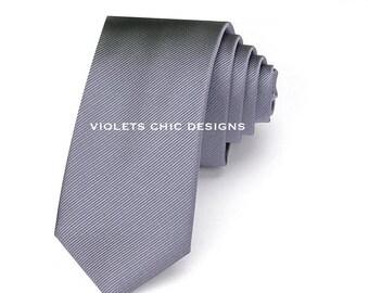 Groomsmen necktie, silver neck tie, mens neck ties, silver wedding neck tie silver skinny neck ties light grey neckties light gray mens tie