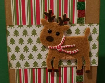 Reindeer cards - set of 4/Cardstock/Rudolph/Christmas Cards