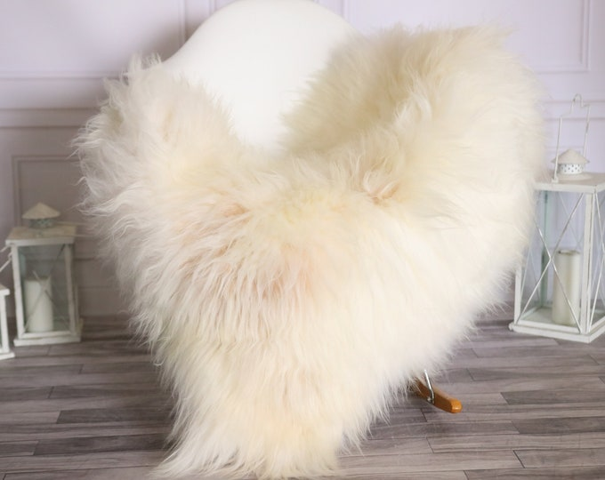 Icelandic Sheepskin | Real Sheepskin Rug |  Super Large Sheepskin Rug Ivory | Fur Rug | Homedecor #MIHISL30