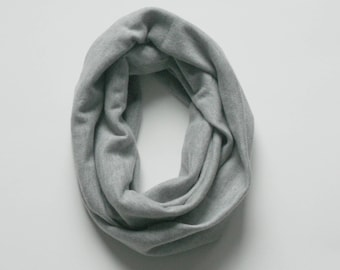 Heather Gray Toddler Infinity Scarf, Child Infinity Scarf, Kid Infinity Scarf, Loop Scarf, Tube Scarf, Circle Scarf, Drool Scarf Bib