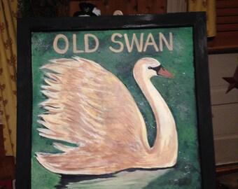 Old Swan Pub Sign