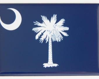 South Carolina State Flag Fridge Magnet