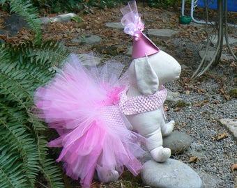Dog Tutus And Party Hats   / Pet Birthday Tutu / Colorful Fun Pet Tutu/ Birthday Hat And Tutu