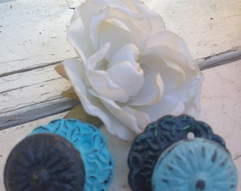 ON SALE, SPRING Sale Drawer Pull /  Shabby Chic Drawer Knob  /  Set of 2 - Clearance