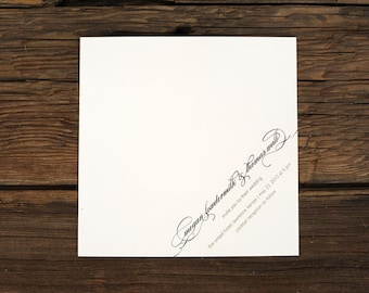 Diagonal Script Invites Wedding Invitations