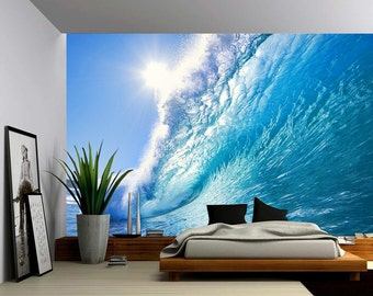 Ocean Wave - Large Wall Mural Self-adhesive Vinyl Wallpaper Peel u0026 Stick fabric wall decal : underwater wall decals - www.pureclipart.com