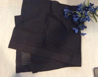 Vintage Black Silk  Mourning Veil, Antique Black Mourning Scarf, Antique Silk  Veil  MRS  278