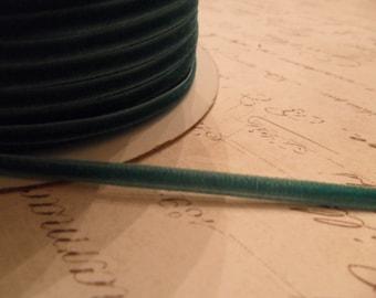 1/8inch Teal Velvet Ribbon