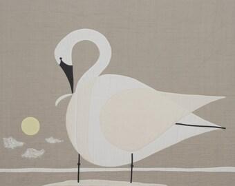 Trumpeter Swan Charley Harper Quilt Pattern