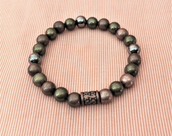 Metal Bead Stackable Stretch Bracelet