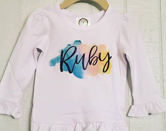 Watercolor Personalized Shirt
