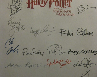 Harry Potter and the Prisoner of Azkaban Signed Film Movie Screenplay Script x22 Autographs Daniel Radcliffe Emma Watson J. K. Rowling Davis