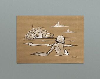 """Postcard """"Summer evening"""""""