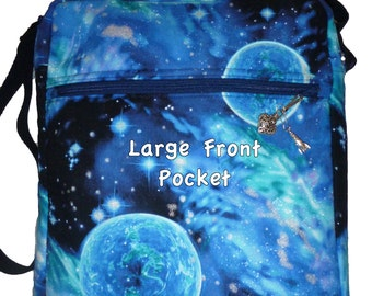 Space Cross Body Bag/Purse with tablet Size padded Pocket