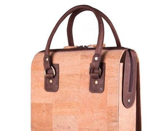 Shoulder bag made of Cork, Vegan Leather, Vegan bag, fair trade fashion, quality cork, made in Portugal