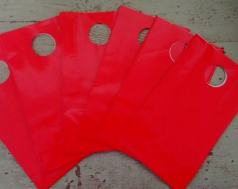 Party Favor Bag.  Gift Bags. Bright  Red Party Favor Gift Bags.  Red Bags