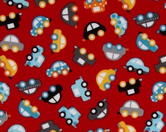 Fabric patchwork fabric pattern cars red Kaufman