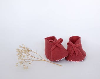 Dusty Rose Baby Shoes