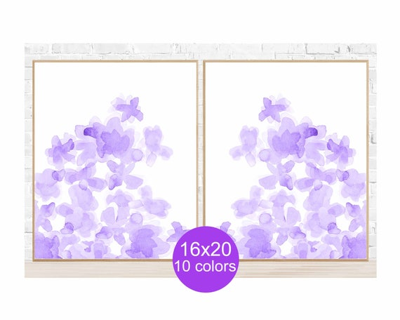 Purple Wall Decor for Bedroom, 16x20 Set of 2, Available in 10 Colors